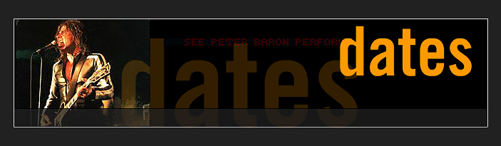 Peter Baron - Dates
